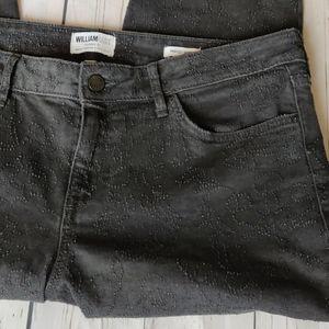 WilliamRast Perfect Skinny embossed black jeans